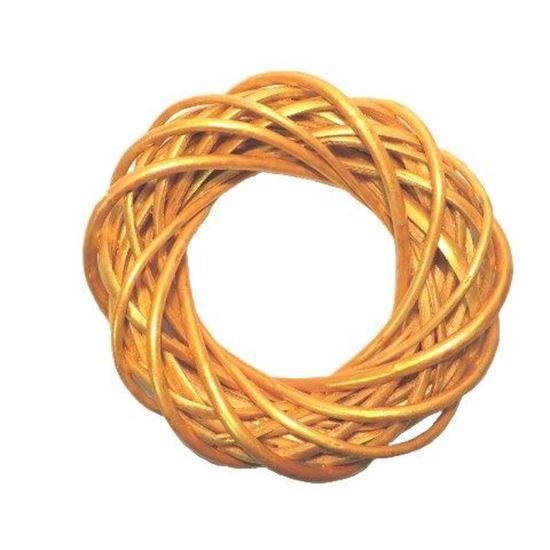Obrázek z Zlatý proutěný věnec ø25cm