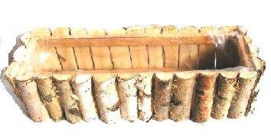 Obrázek z Truhlík 50cm - bříza, s fólií
