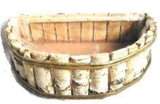 Picture of Obal půlkruh 40cm - bříza, s fólií