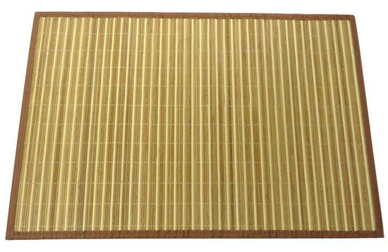 Obrázek z Rohož / Předložka na podlahu - bambus 60x90 kombinovaná