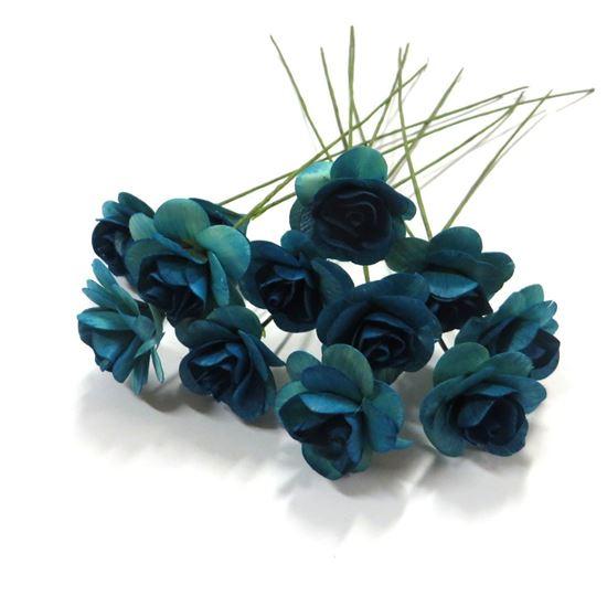 Picture of Deco růžičky - modrá (12ks)