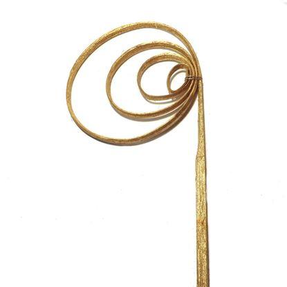 Obrázek Cane coil (cane circle) - zlatá, stříbrná (25ks)