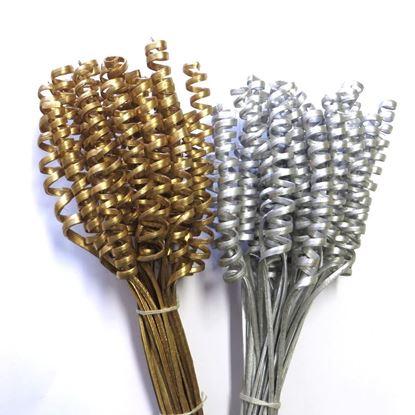 Obrázek Cane spring mini  - zlatá, stříbrná (25ks)