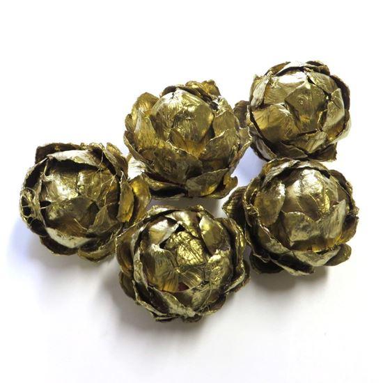 Obrázek z Strobus ball 5cm - zlatý (5ks)