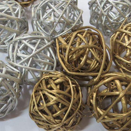 Picture of Lata ball 6cm - zlatý, stříbrný (6ks)