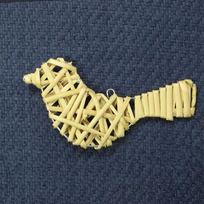 Obrázek Proutěný ptáček - dekorace k zavěšení (3 BARVY)