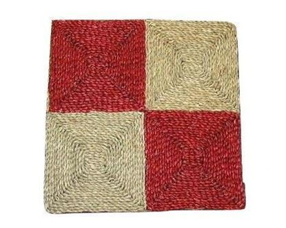 Obrázek Rohož na podlahu - mořská tráva 60x60 červená