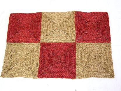 Obrázek Rohož na podlahu - mořská tráva 90x150 červená
