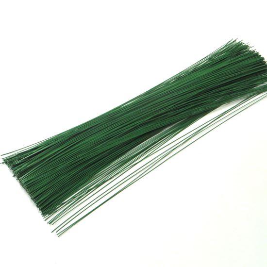 Obrázek z Drát vázací 0,7mm, délka 40cm - zelený - 2kg