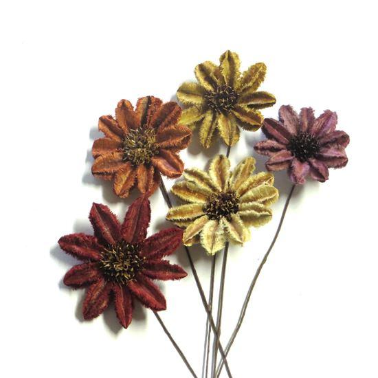 Obrázek z Arjun sunflower - barevná, na stonku (15ks)