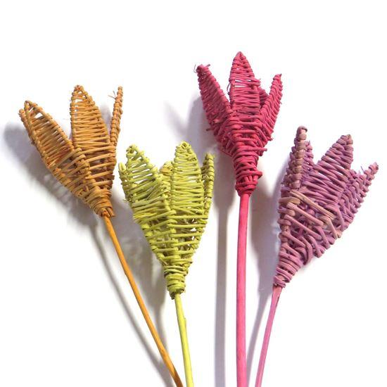 Obrázek z Lata lily - barevná, na stonku (5ks)